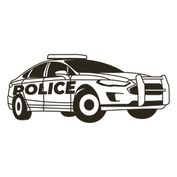 Luzes de carro de polícia com curso direito moderno