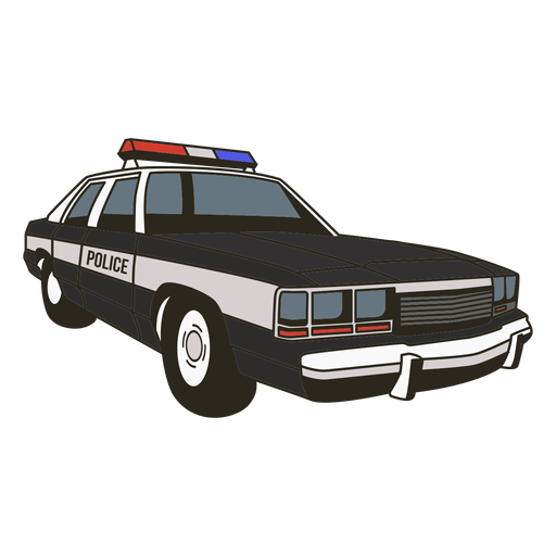 Luces de coche de policía a la derecha Transparent PNG