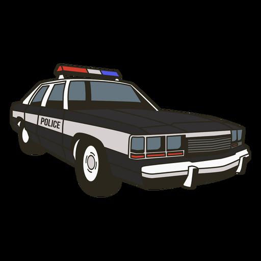 Luces de coche de policía a la derecha