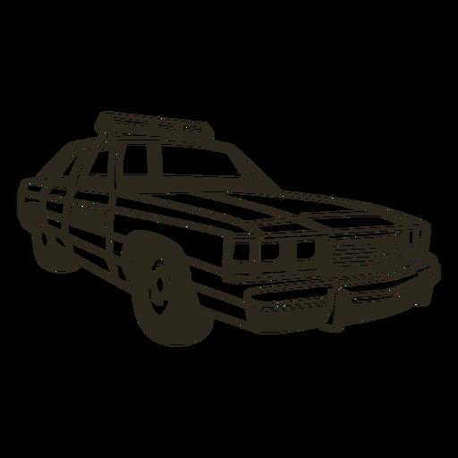 Police car lights right stroke Transparent PNG