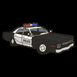 Carro de polícia acende certo vintage