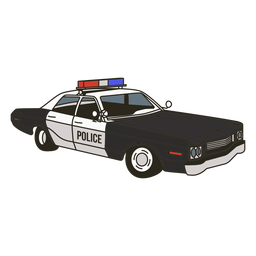 Luzes de carro de polícia vintage