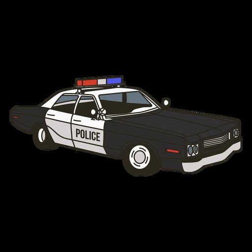 Luces de coche de policía derecha vintage