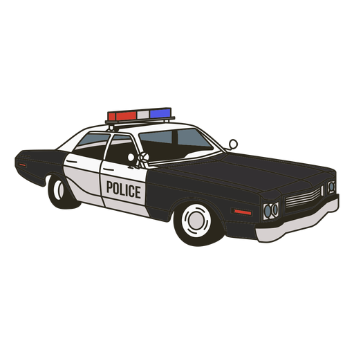 Police car lights right vintage Transparent PNG