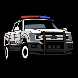 Camioneta de la policía derecha