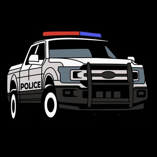 Camioneta del coche de policía derecha