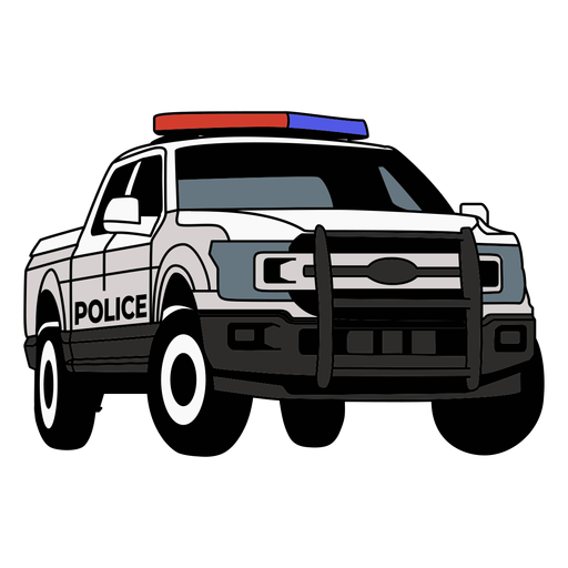 Police car pickup truck right Transparent PNG