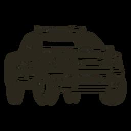 Carro de polícia caminhonete direito carro da polícia