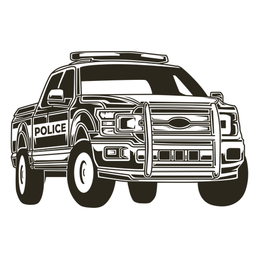 Police car pickup truck right police car Transparent PNG