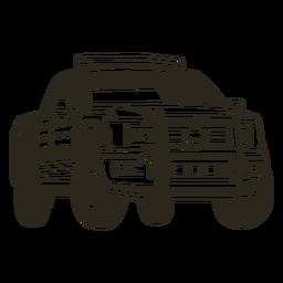 Coche de policía camioneta derecha trazo