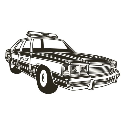 Police car right Transparent PNG