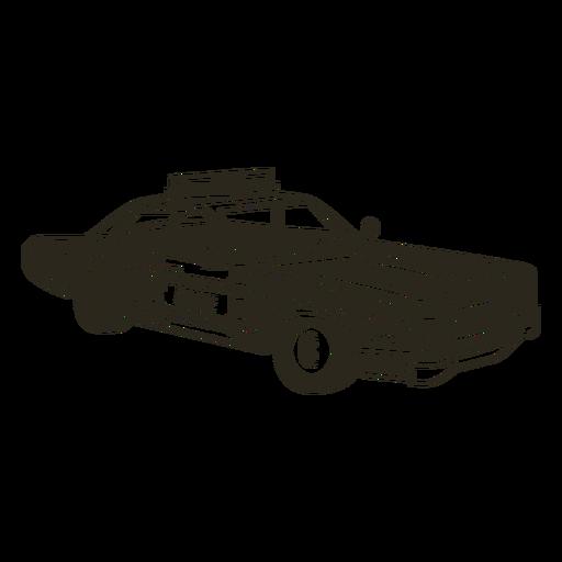 Coche de policía derecha vintage