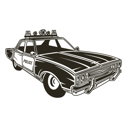 Police car siren lights right Transparent PNG