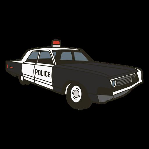 Sirena del coche de policía a la derecha