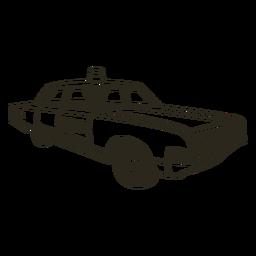 Curso de sirene de carro de polícia