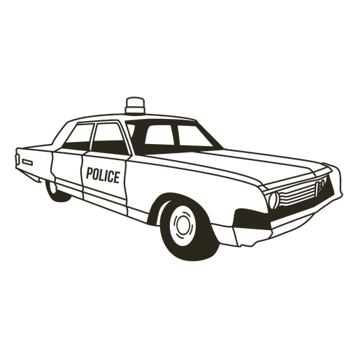 Police car siren right stroke Transparent PNG