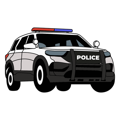 Police car truck Transparent PNG