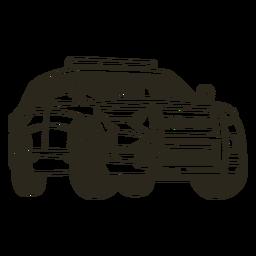 Carrera derecha de camión de coche de policía