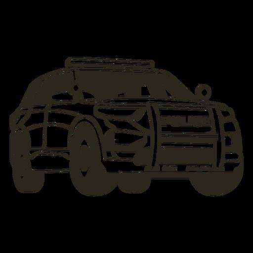 Police car truck right stroke