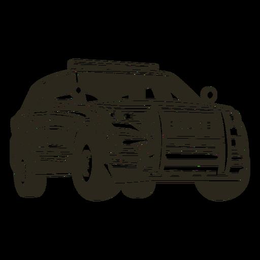Caminhão de carro de polícia