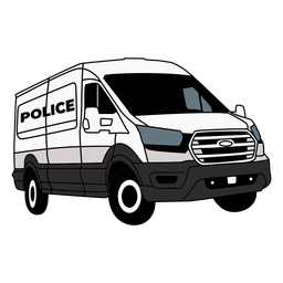 Coche de policía furgoneta derecha