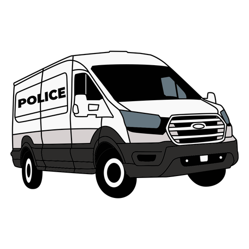 Police car van right Transparent PNG