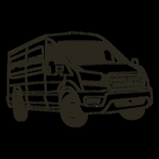 Police car van right stroke Transparent PNG