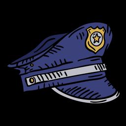 Mão de chapéu de polícia desenhada