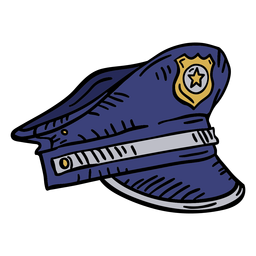 Sombrero de policía dibujado a mano