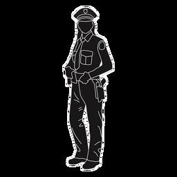 Policía mujer policía posición