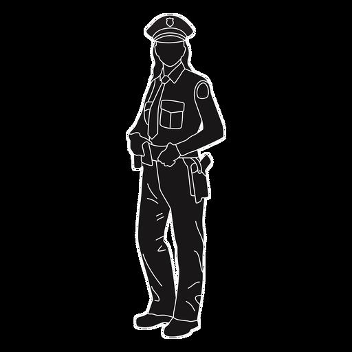 Policial policial em pé