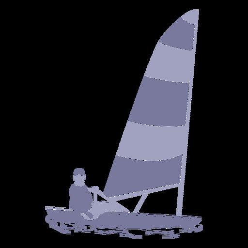 Sailing man flat Transparent PNG