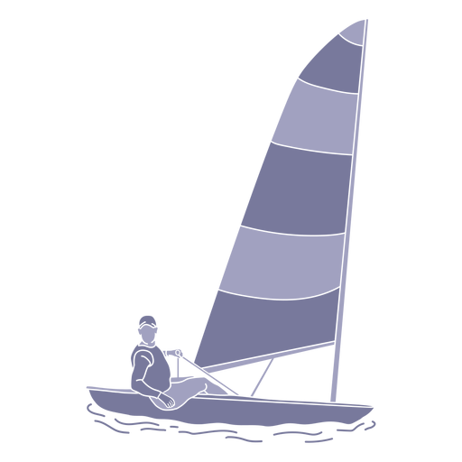Sailing man flat