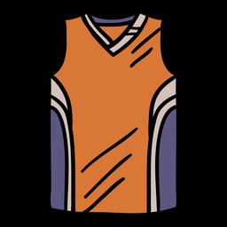 Camisa de basquete desenhada à mão