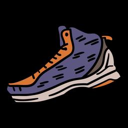 Zapatillas de baloncesto dibujado a mano