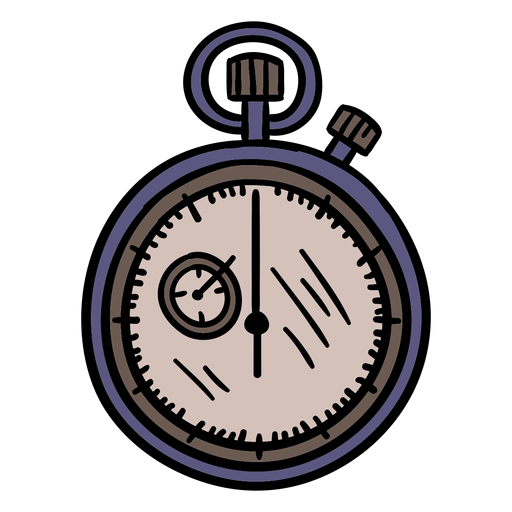 Stopwatch basketball hand drawn Transparent PNG