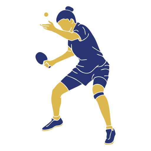 Tabletennis woman serving flat Transparent PNG