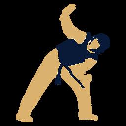 Taekwondo man defending flat