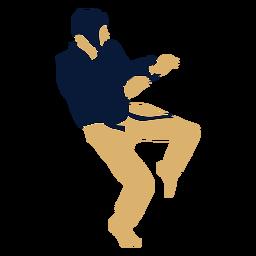 Taekwondo man posing flat
