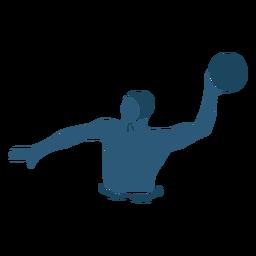 Homem de pólo aquático jogando bola