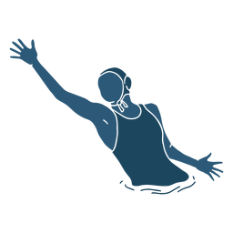 Waterpolo mulher jogando bola