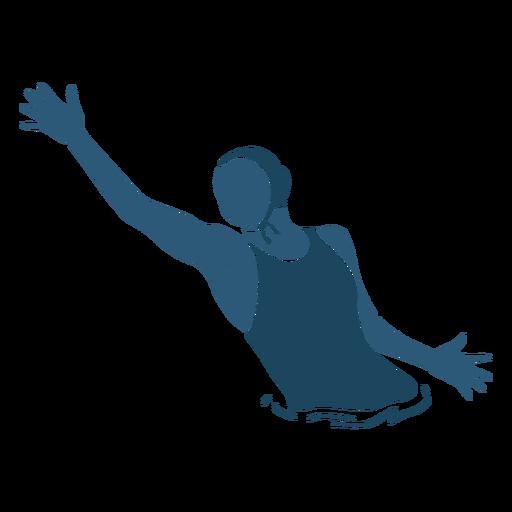 Waterpolo woman throwing ball