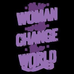 Cambio de letras del día de las mujeres plano