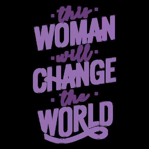 Letras do Dia das Mulheres mudam de forma plana Transparent PNG