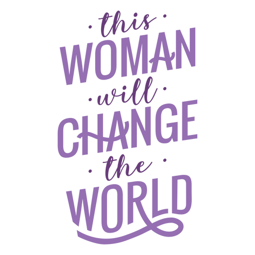 Womens day lettering change flat Transparent PNG