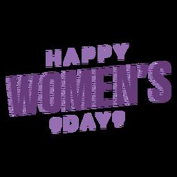 Día de la mujer letras feliz plana