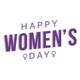 Womens day lettering happy flat