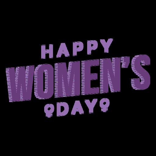 Día de la mujer letras feliz plana Transparent PNG