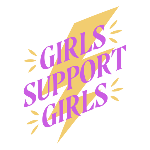 Womens day lettering support flat