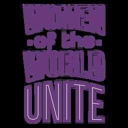 Las letras del día de las mujeres se unen